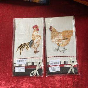 MacKenzie Childs Chicken Towels